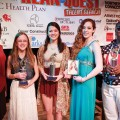 Trisha Pittman, WPXI; Ariel Cameroe, Second Runner-Up; Blair Nelson, First Runner-up; Sara Hopkins, Jackie Evancho Award winner; Shailen Abram, Kean Quest Champion